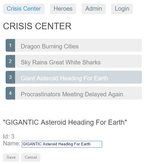 Crisis Center Detail