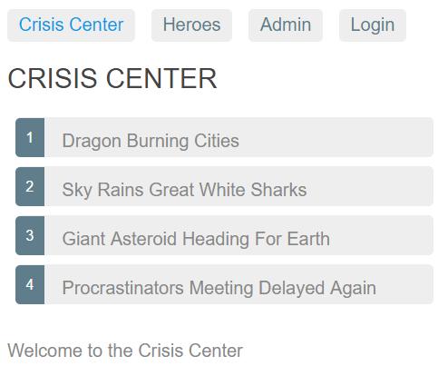 Crisis Center List